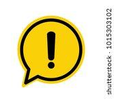 black hazard warning attention... | Shutterstock .eps vector #1015303102