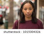 young black woman portrait face ...   Shutterstock . vector #1015304326