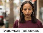 young black woman portrait face ...   Shutterstock . vector #1015304332
