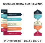 infographic elements arrow and... | Shutterstock .eps vector #1015310776