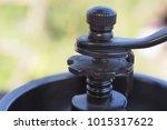 antique coffee grinder | Shutterstock . vector #1015317622