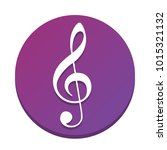 music violin clef sign. g clef. ... | Shutterstock .eps vector #1015321132