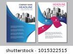 design blue cover book.... | Shutterstock .eps vector #1015322515