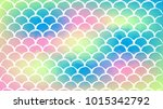 fish scale on trendy gradient...   Shutterstock .eps vector #1015342792