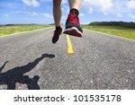closeup of running legs on the... | Shutterstock . vector #101535178