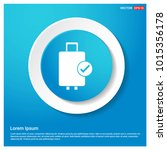 bag icon abstract blue web...