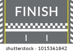 finish line on the rally track... | Shutterstock .eps vector #1015361842