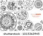 oriental sweets vector... | Shutterstock .eps vector #1015363945