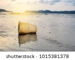 garbage on the beach | Shutterstock . vector #1015381378