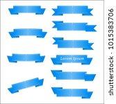 vector ribbons banners on white ... | Shutterstock .eps vector #1015383706