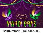 mardi gras carnival vector... | Shutterstock .eps vector #1015386688