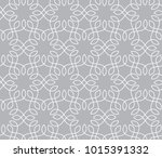 abstract grey ornamental pattern | Shutterstock .eps vector #1015391332