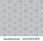 abstract grey ornamental pattern | Shutterstock .eps vector #1015391395