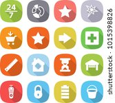 flat vector icon set   24 7...