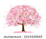 cherry blossoms spring flower... | Shutterstock .eps vector #1015420045