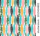 tribal seamless pattern with... | Shutterstock .eps vector #1015434802