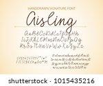 handrawn vector alphabet.... | Shutterstock .eps vector #1015435216