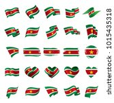 suriname flag  vector... | Shutterstock .eps vector #1015435318