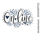 on line. script handmade... | Shutterstock .eps vector #1015439722