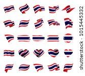 thailand flag  vector... | Shutterstock .eps vector #1015445332