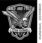 wild and free.eagle... | Shutterstock .eps vector #1015448035