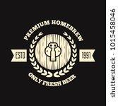 retro vintage logo  badge ... | Shutterstock .eps vector #1015458046
