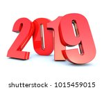 happy new year 2019 calendar... | Shutterstock . vector #1015459015