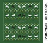 cannabis marijuana patturn... | Shutterstock .eps vector #1015466236
