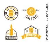 set of vintage logo  badge ... | Shutterstock .eps vector #1015466386