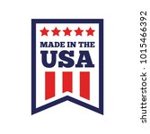 vector set of made in the usa... | Shutterstock .eps vector #1015466392