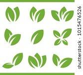 leaf vector set icon logo | Shutterstock .eps vector #1015476526