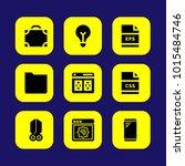 web design vector icon set.... | Shutterstock .eps vector #1015484746