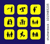 humans vector icon set.... | Shutterstock .eps vector #1015485235