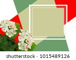 Designer Card. Collage Of Whit...
