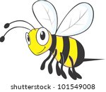 flying bee cartoon | Shutterstock .eps vector #101549008