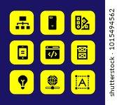 web design vector icon set.... | Shutterstock .eps vector #1015494562