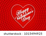 happy valentine s day vintage... | Shutterstock .eps vector #1015494925