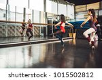 young professional dancers... | Shutterstock . vector #1015502812