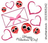 greeting card day of st.... | Shutterstock .eps vector #1015505242