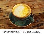 turmeric latte or golden milk   ... | Shutterstock . vector #1015508302