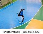football goalkeeper on goal ... | Shutterstock . vector #1015516522