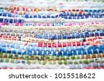 eastern style rug in retail... | Shutterstock . vector #1015518622