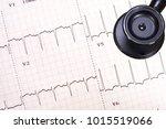 an abnormal electrocardiogram...   Shutterstock . vector #1015519066
