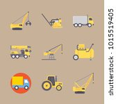 icons construction machinery... | Shutterstock .eps vector #1015519405