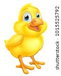an easter chick baby chicken... | Shutterstock .eps vector #1015525792