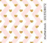 gold heart seamless pattern.... | Shutterstock .eps vector #1015528072