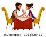 young passionate couple... | Shutterstock .eps vector #1015528492
