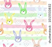 seamless pattern with cute... | Shutterstock .eps vector #1015533832
