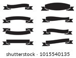 vector set of banners ribbons... | Shutterstock .eps vector #1015540135