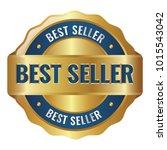 best seller badge | Shutterstock .eps vector #1015543042